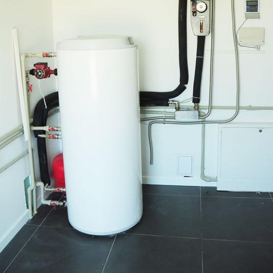 gas water heater in basement