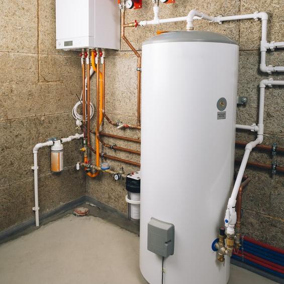 water heater in a basement