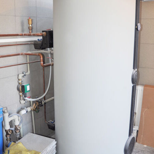 A Newly Installed Water Heater.