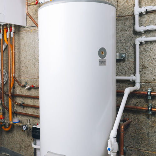 A Gas Water Heater.
